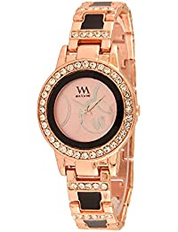 Watch Me Black Brown Leather Multicolor Analog Watches for Womens and Girls Stylish WMAL-053-Cdz