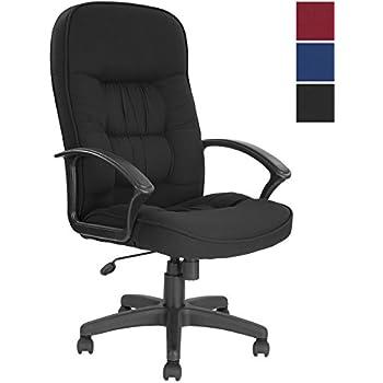 Good Cadiz High Back Executive Fabric Office Chair   Black