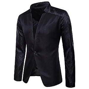 VRTUR Herren Mode Wintermantel Charme Männer Lässig Eins Knopf Passen Anzug Blazer Mantel Jacke Oben Winterjacke Parka Steppjacke Oberteile