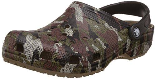 crocs Unisex-Erwachsene Classiccamoclg Clogs, Braun (Khaki), 43-44 EU