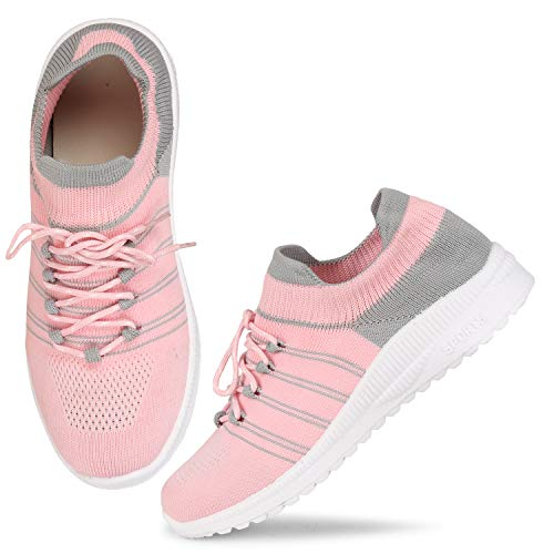 FASHIMO Running,Walking, Sports,Gym Shoes for Women and Girls Light Pink