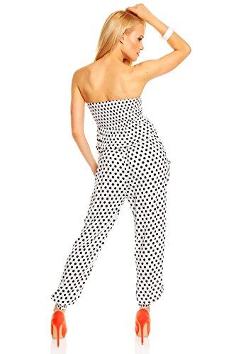 Bandeau en coton pünktchenoverall mara polka dot combinaison sans combinaison résille Blanc - blanc