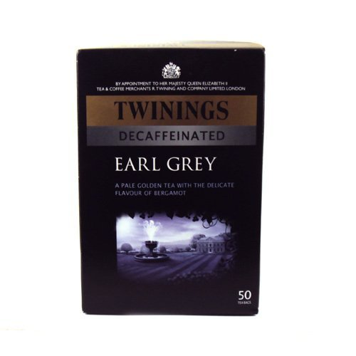 Twinings Earl Grey Decaffeinated 50 Btl. 125g - entkoffeinierter Schwarztee mit Bergamotte