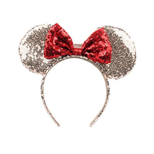 Nette Mickey Mouse-Ohren Stirnband Schmetterling Glitter Haarband Für Mädchen - Minnie Maus-markt