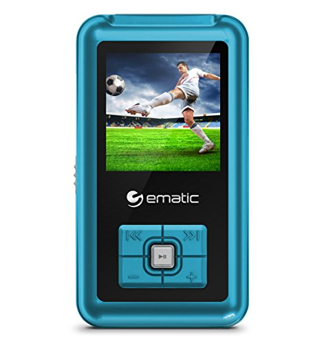 Ematic MP3-/Video-Player mit FM-Tuner blau (Ematic Mp3-player)