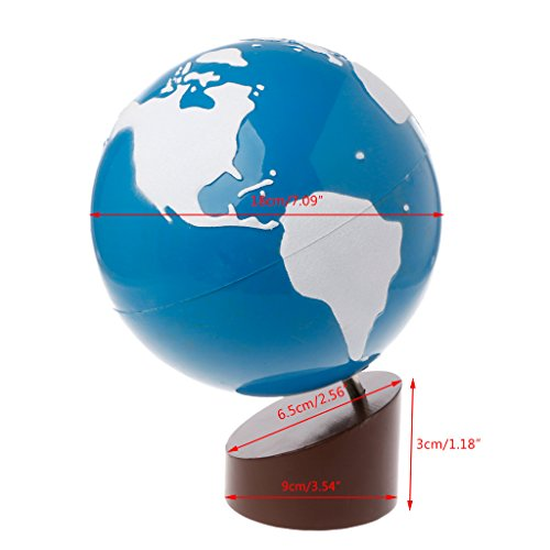 Jiay Plastic Globe Montessori Geography Material Globe Of World Parts Kids Early Learning Toys (Como la imagen)