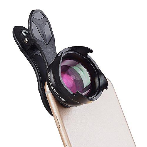 Apexel 70mm Portrait Objektiv,Phone Kamera Objektiv, 2.5X Optische Zoom Clip-on Tele-Handy Kamera Objektive für iPhone 6/6S Plus SE Samsung Galaxy S7/S7 Edge S6/S6 Edge S8 und die Meisten Smartphone