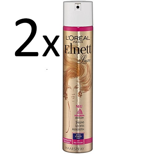 2x L\'Oréal Paris Elnett de Luxe - Haarspray Extra Starker Halt/Dauerhaftes Volumen 300ml