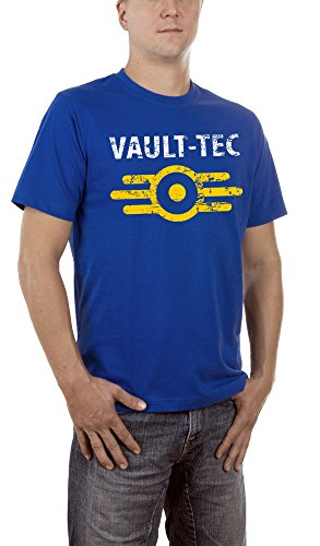 Touchlines Herren T-Shirt Vault Tec, Gr. Large, Blau (Royal 09)
