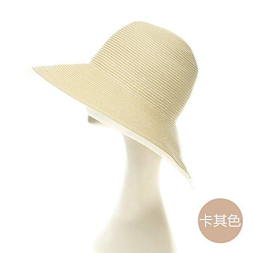 LLZTYM Plage/Chapeau/Madame/Été/Mignon/Soleil/Chapeau/Chapeau/Maille/Cadeau/Tête/Chapeau De Soleil Khaki