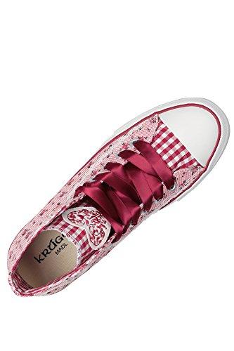 Krüger Madl Sneaker Floret, Baskets hautes femme Rouge - Rot (rot 9)