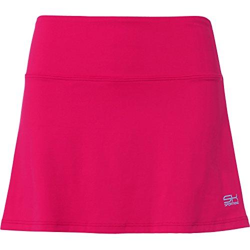 Sportkind Mädchen & Damen Tennis / Hockey / Golf Basic Rock mit Innenhose, pink, Gr. 122