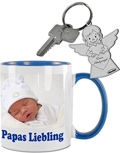 Kaffeetasse, Kaffeepott mit Wunschdruck - Foto, Grafik, Logo, Wunschtext. inkl. Schlüsselanhänger