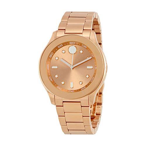 MOVADO Women's 38MM Gold Plated Bracelet Swiss Quartz Analog Watch 3600417