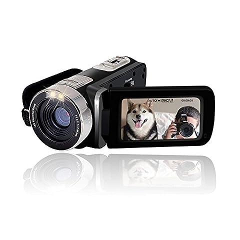 SEREE Caméra Caméscope Full HD 1080p Zoom Numérique 16X Ecran