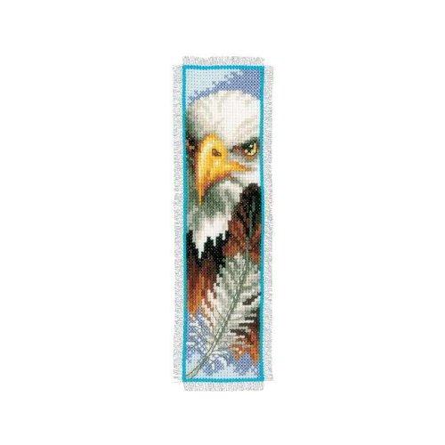 Vervaco Lesezeichen Adler Zählmusterpackung, Baumwolle, Mehrfarbig, 6.0 x 20.0 x 0.30000000000000004 cm, 1 Einheiten (Lesezeichen Adler)