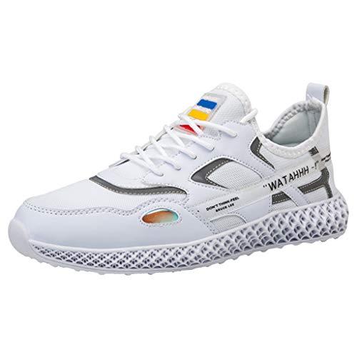 RYTEJFES Luftkissenschuhe Herren Laufschuhe Unisex Strandschuhe Atmungsaktiv Dämpfung Laufschuhe Gewebter Freizeitschuhe Kontrastfarbe Sneaker