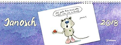 Tischquerkalender: Janosch 2018 - Tischkalender, Illustrationen, Kunstkalender 2018  -  29,7 x 10,5 cm