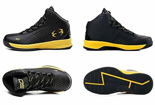 Uomini Scarpe Da Ginnastica Respirabili Da Pallacanestro Esterne 2017 Autunno New High Top Couple Athletic Shoes Black