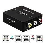Tiancai 1080P AV Composite 3 RCA CVBS to HDMI Digital Signal Video Audio Converter for Xbox Xbox360 Blu Ray SKY HD VHS VCR DVD DVR-Blak