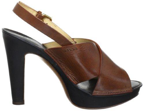 L'Autre Chose Ld5094.11Cpo06900812, Sandales femme Multicolore (Brown/Black)