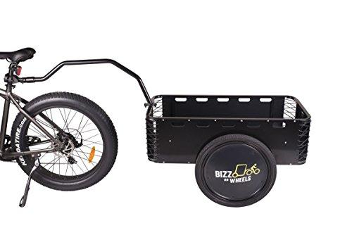 High End cargo rimorchio per bicicletta in alluminio   cargo rimorchio bici   trasportatore a due ruote resistente e leggero