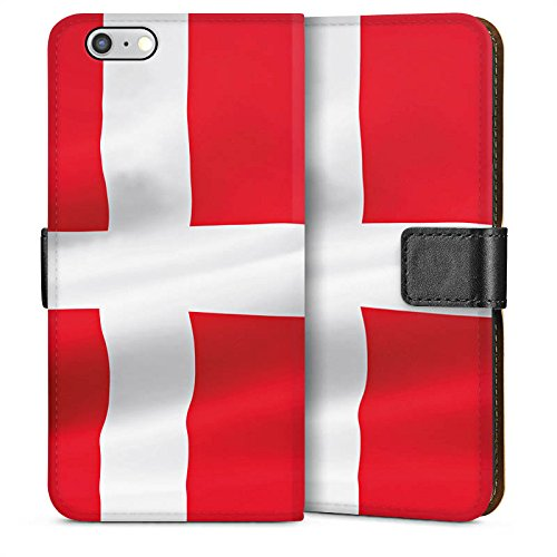 Apple iPhone 4 Housse Étui Silicone Coque Protection Drapeau Danemark Danemark Drapeau Sideflip Sac