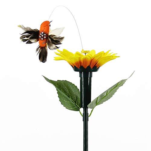 Alftek Solar Powered Dancing Fluttering Butterflies Flying Hummingbird Garden Yard Decoration Gift -