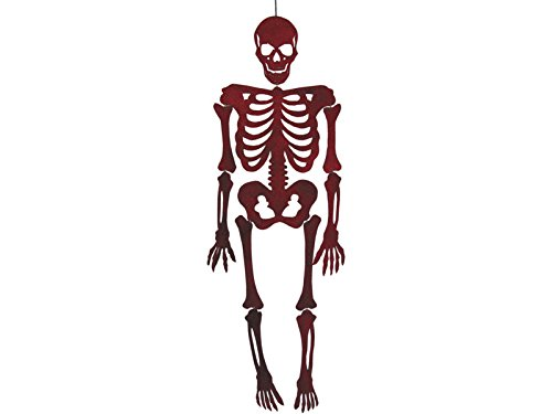 Rotes Skelett Eva mit Glitzer 155 cm.