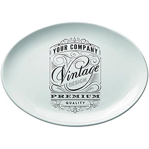 Valli Ceramiche, Vassoio ovale grande vintage 40x30 cm