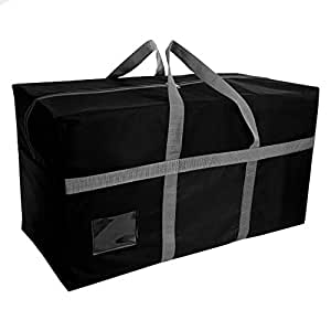 SNDIA XXLarge Multipurpose Heavy Duty Storage Bag With Strong Reinforced Handles - 80x45x40 cm -153 Litre (1 Pack Black)