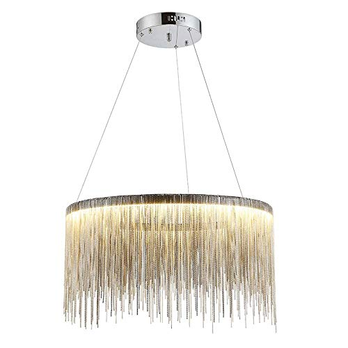Txdz ® lampadario led lampada a sospensione decorativa in ferro postmodern oro rosa/argento lampada a sospensione nordic restaurant lampada a sospensione per soggiorno (colore: argento-luce calda)