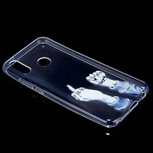 Surakey Coque Compatible avec Huawei P20 Lite,Etui Housse Huawei P20 Lite,Impression de Motif Transparente Souple Silicone Housse Etui Coque en TPU Bumper Case pour Huawei P20 Lite,Fuck You