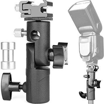 ChromLives Kamera Blitzhalterung Standfuß Lichthalterung Schirmhalterung Blitz Speedlite Halterung Schuhhalter E-Typ für Canon Nikon Pentax Olympus Nissin Metz Speedlite Blitzgeräte (1 Pack) -