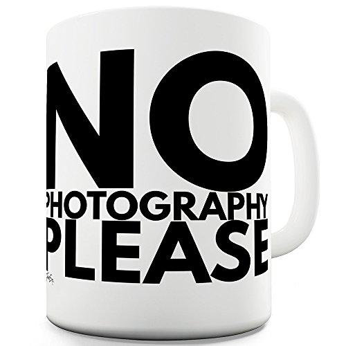 TWISTED ENVY Keramik Tee Tasse keine Fotografie Bitte von, keramik, weiß, 15 OZ