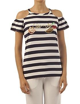 Liu-Jo Beach t-Shirt Malibu Donna v18083/j790708666/blu bianco/a8e Primavera/Estate