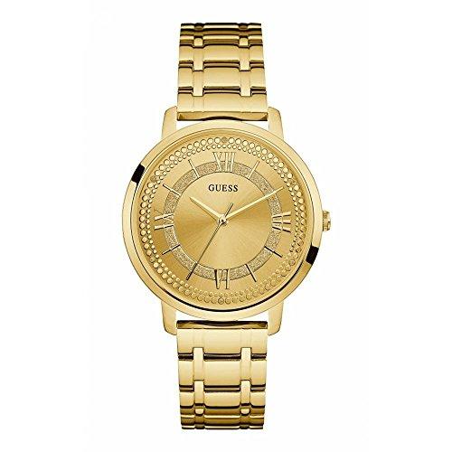 Guess Reloj Analógico para Mujer de Cuarzo con Correa en Acero Inoxidable W0933L2