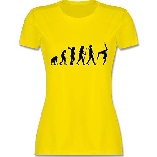 Evolution - Evolution Turnen - L - Lemon Gelb - L191 - Damen Tshirt und Frauen T-Shirt -