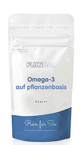 Flinndal Omega-3 Pflanzenbasiert - Pflanzenbasiertes Omega 3 Aus Algen - 90 Kapseln - Flinndal