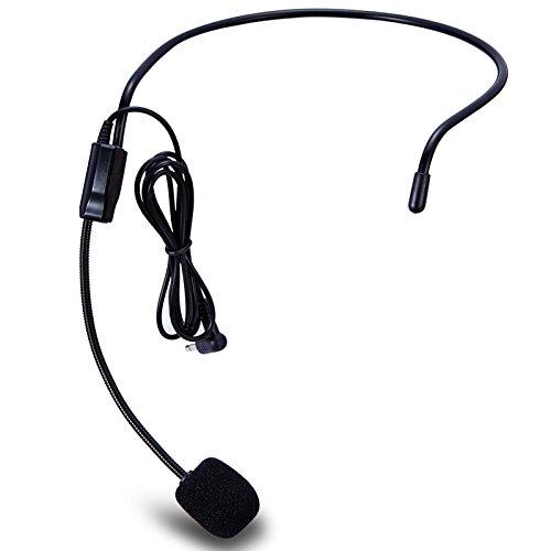 Zoweetek® Unidireccional Micrófono Montado en la Cabeza Auricular Di