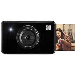 Kodak Mini Shot - Appareil Photo Numérique et Imprimante sans Fil, 5 x 7,6 cm, Technologie d'Impression Brevetée 4Pass, Noir