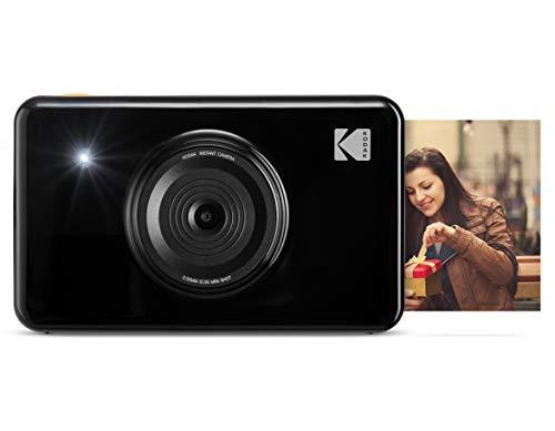 Kodak Mini Shot Wireless Sofortbild-Digitalkamera (Schwarz) 2x3-Zoll-Druck mit patentierter 4-Pass-Drucktechnologie