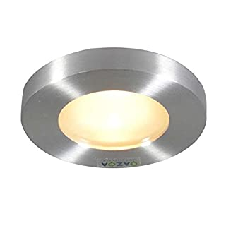 QAZQA Modern Recessed Spotlight/Downlight Anex Round Aluminium/Glass Round GU10 Max. 1 x 50 Watt Bathroom/Indoor / Outdoor/Garden Lighting/Lights / Lamps/Living room/Kitchen