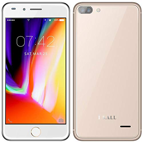 I KALL K2 4G VOLTE Android Phone with 5-inch Display (Gold, Turbo)