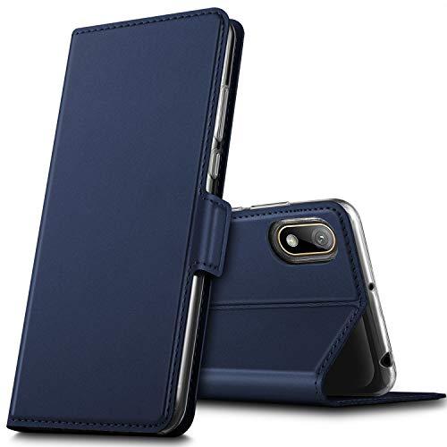 GEEMAI für Huawei Y5 2019 Hülle, für Huawei Y5 Prime 2019 Hülle, handyhüllen Flip Hülle Wallet Stylish mit Standfunktion & Magnetisch PU Tasche Schutzhülle passt für Huawei Y5 2019 Phone, Blau
