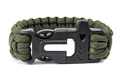 ZENDY-Paracord-Seil-Armband-mit-Zndstein-rostfreiem-Schaber-und-Pfeife-Multifunktions-Outdoor-Survival-7-Strang-Kabel-Grn