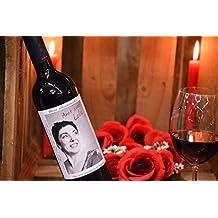 Botella vino personalizada foto para regalo recuerdo