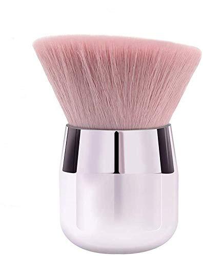 ENERGY Kabuki Powder Foundation Brush Tragbarer Mineralpuderpinsel Abgewinkelt Großer Gesichtspinsel Rosa