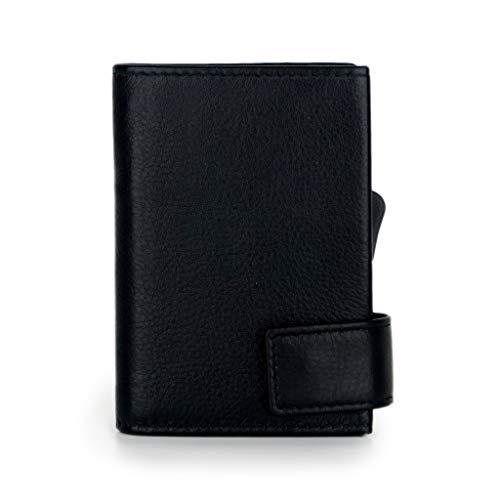 SecWal Kartenetui mit Münzfach Reißverschluss (Schwarz) -