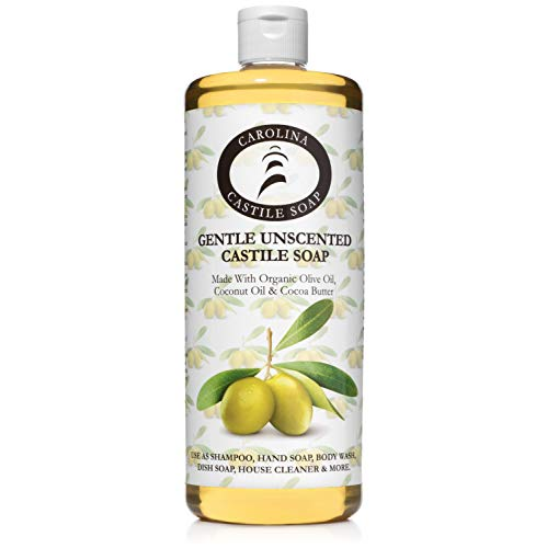 Carolina Castile Soap Gentle Unscented w/Organic Cocoa Butter - 950ml, 950ml